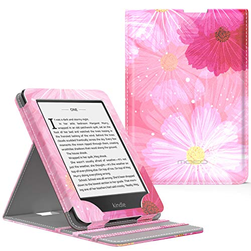 MoKo Case Fits Kindle Paperwhite (10th Generation, 2018 Releases), Premium Vertical Flip Cover with Auto Wake/Sleep Compatible for Amazon Kindle Paperwhite 2018 E-Reader - Coreopsis