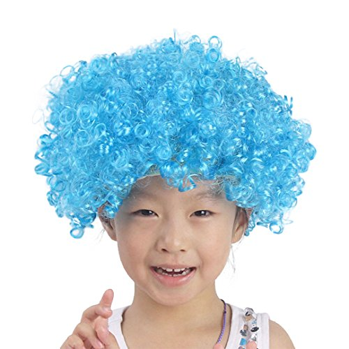 La moriposa Unisex Child Wig for Halloween Costume Party Accessory(Blue) by La moriposa