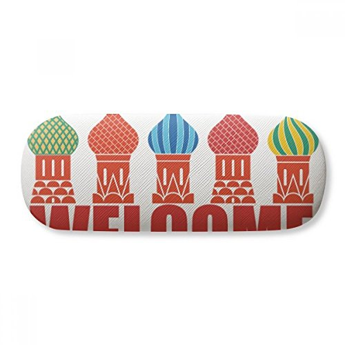 Welcome To Russia Cathedral Buiding Glasses Case Eyeglasses Clam Shell Holder Storage Box by DIYthinker