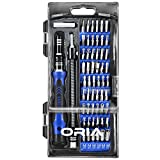 ORIA Precision Screwdriver Kit, 60 in 1 with 56 Bits Screwdriver Set, Magnetic Driver Kit with Flexible Shaft, Extension Rod for Mobile Phone, Smartphone, Game Console, Tablet, PC, Blue