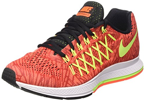 Nike Wmns Air Zoom Pegasus 32 Print - Zapatillas Mujer Arancione (Hyper Orange/Volt-Unvrsty Red)