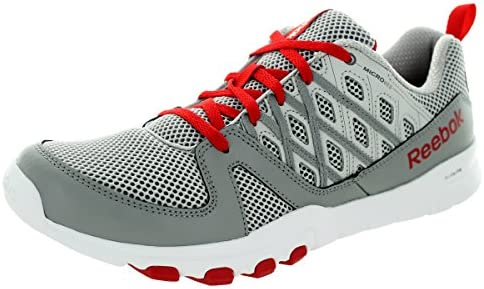 Reebok Men s Sublite Train Rs 2.0L Steel Grey Red White Training Shoe 10 Men US