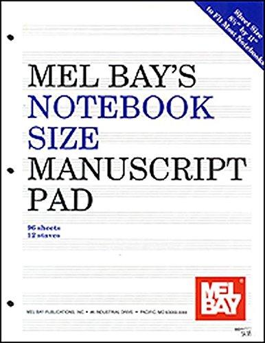 Mel Bay Notebook-Size Manuscript Pad, 12-Stave