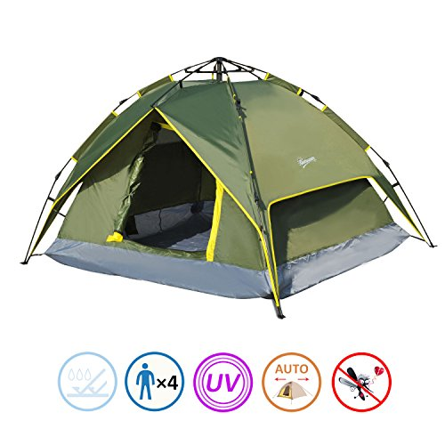 Outsunny 7' x 6' Lightweight 2 Person Pop-Up Camping Tent with Removable Waterproof Rainfly