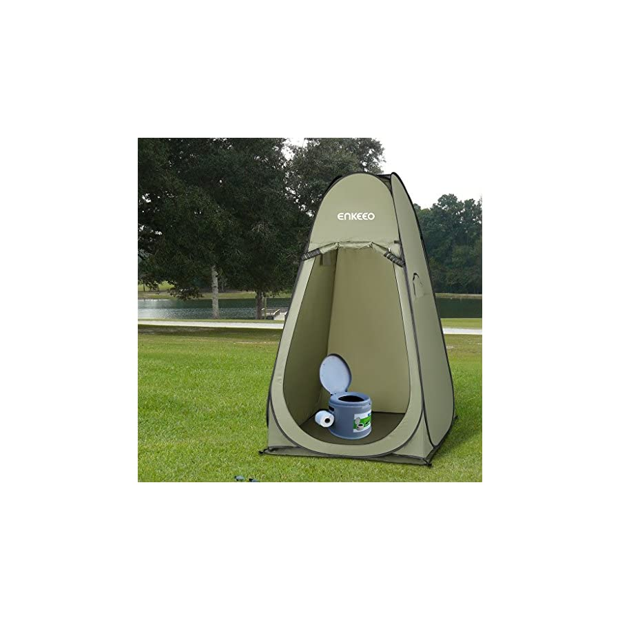 Enkeeo Portable Privacy Tent Pop Up Changing Tent Dressing Room with Detachable Floor and Carry Bag for Shower Toilet Camping Outdoor Beach