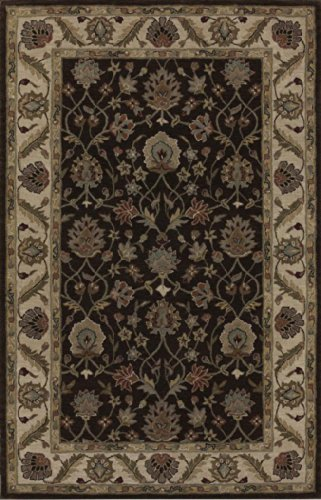 Dalyn Rugs JEWEL JW33 Chocolate/Ivory Hand Tufted Rug, 8-Feet by 10-Feet