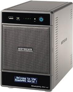Netgear RND4000-200 ReadyNAS NV+ v2 Diskless 4-Bay/USB 3.0 Network Storage for Home/SoHo Users - Latest Generation