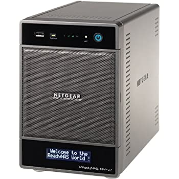 Netgear RND4000-200 ReadyNAS NV+ v2 Diskless 4-Bay/USB 3.0 Network Storage for Home/SoHo Users - Latest Generation