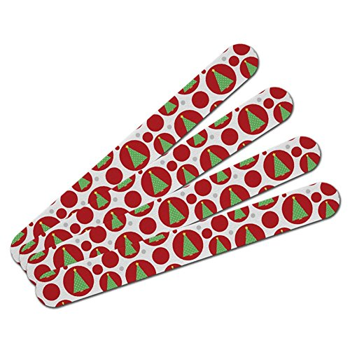 Double-Sided Nail File Emery Board Set 4 Pack - Holiday Chri