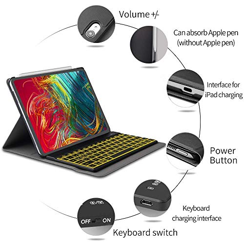 iPad 11 Keyboard Case for 2018 Dingrich iPad Pro 11 inch Stand Case with KeyboardSupport Apple