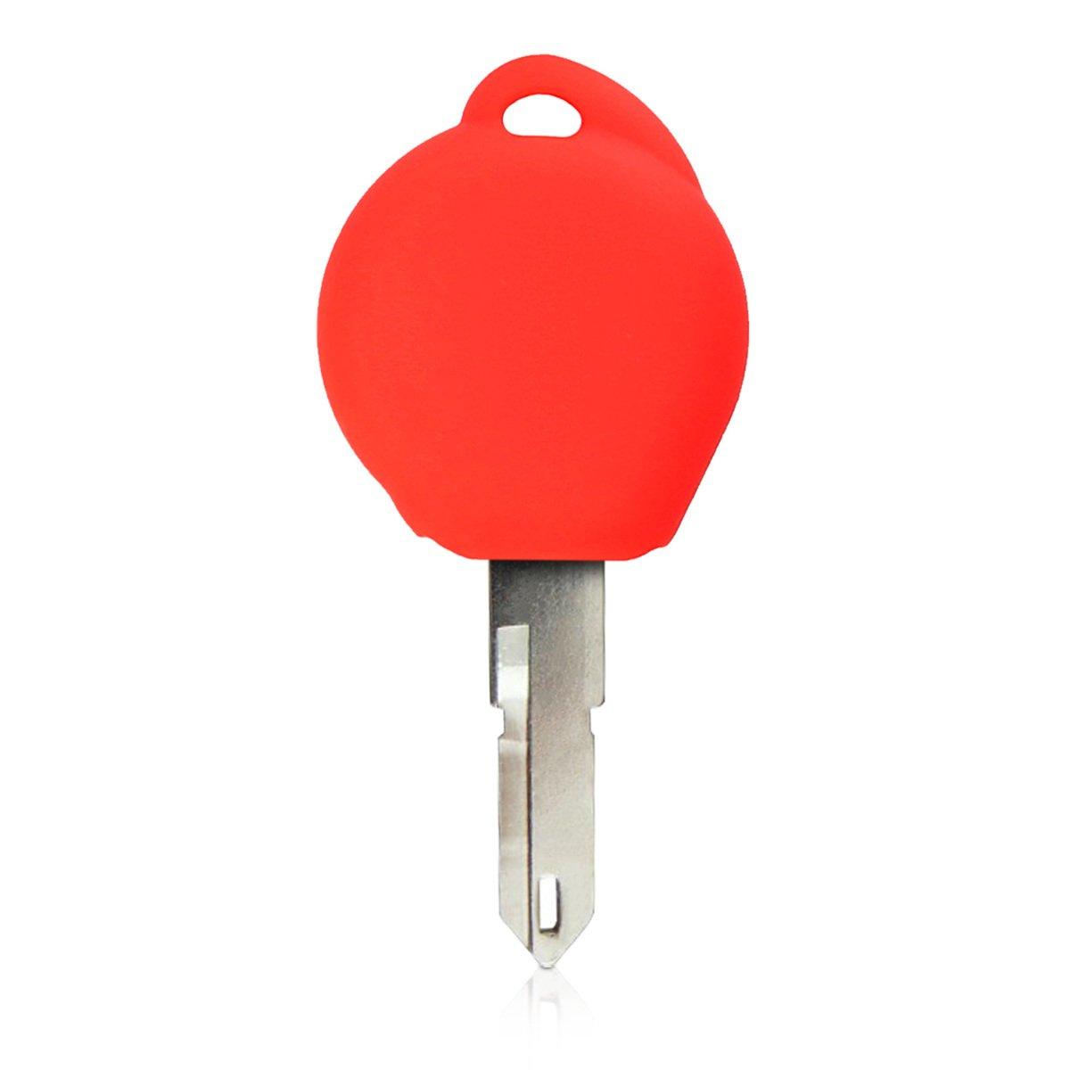 de Suave Silicona Carcasa Protectora kwmobile Funda de Silicona para Llave de 1 bot/ón para Coche Peugeot Rojo - Case Mando de Auto