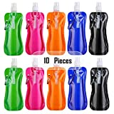 Ibaye - Collapsible Water Bottle Bulk Foldable Reusable Drinking Water Bottle with Clip