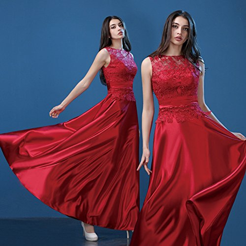 46 Rosso Vestido Para Mujer Trapecio Rojo Vimans BqYXF7Uqw