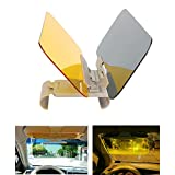Transparent Windshield Car Sun Visor Extender,HQSHOP Auto Anti-Glare Windshield,2 in 1 Day and Night Sun Visor Mirrors Shield for Driving Goggles