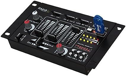 Ibiza Sound 15 2044 Dj21usb Bt Table De Mixage Amazon Fr