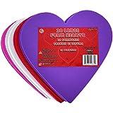 "KINREX Valentine's Day Foam Hearts - Valentines Craft - Multicolor - 20 Pieces - 6"""