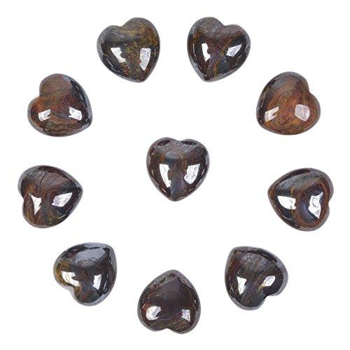 (Justinstones Natural Tiger Iron Gemstone Healing Crystal 0.8