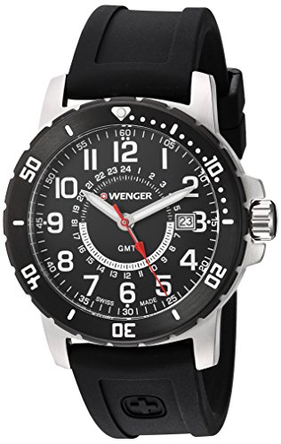 Wenger-Mens-Off-Road-GMT-Swiss-Quartz-Stainless-Steel-and-Silicone-Casual-Watch-ColorBlack-Model-011342102