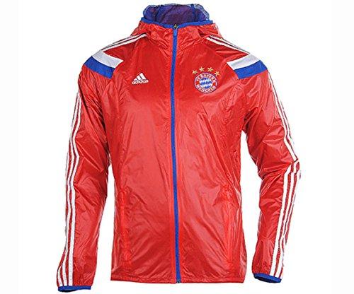 adidas Mens FC Bayern Munchen Anthem Jacket Red (XS)