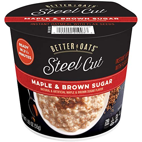 t Instant Oatmeal Cups, Maple and Brown Sugar, 12 Count ()