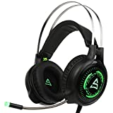 Supsoo G815 Computer Gaming Headset Headphone with Mic Volume Control LEDlight for PC Laptop