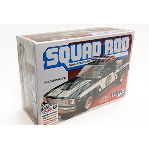 MPC 851 Squad Rod Nova Police Car 1:25 Scale Plastic Model Kit - Requires Assembly (Model Plastic Rod)