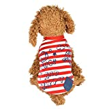 Spbamboo Pet Costume Puppy Round Neck Shirt Two-Legged Clothes With Letter Coat