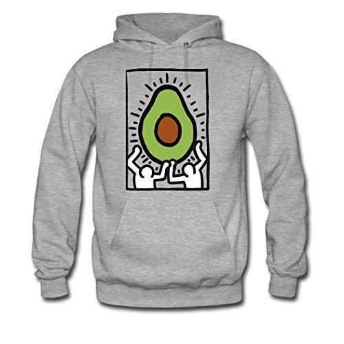 Avocado Custom Women's Hoody Hoodie Hooded Sweatshirt by Hkhoodies (Gray)