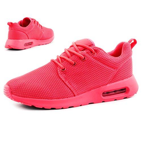 Unisex Damen Laufschuhe Schnür Sneaker Sport Fitness Turnschuhe Pink