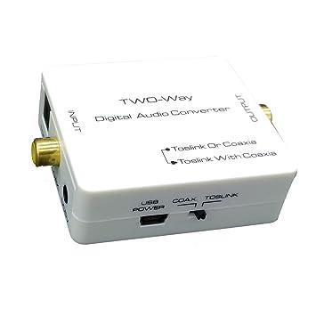 Adaptador Coaxial a Toslink + Coax, Toslink a Coax + Splitter Óptico
