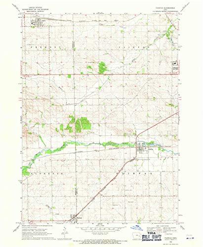 YellowMaps Fairfax IA topo map, 1:24000 Scale, 7.5 X 7.5 Minute, Historical, 1968, Updated 1971, 26.9 x 22.1 in - Paper (Fairfax Dark Cherry)