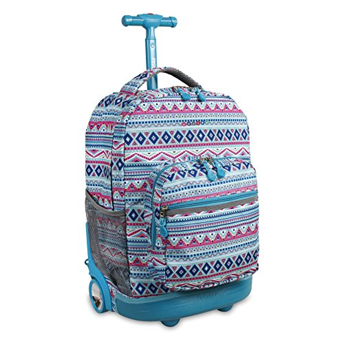 J World New York Sunrise Rolling Backpack Backpack, MINT TRIBAL (Best Mints In The World)