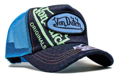 von-dutch-originals-unisex-adult-trucker-hat-one-size-blue-blue-denim