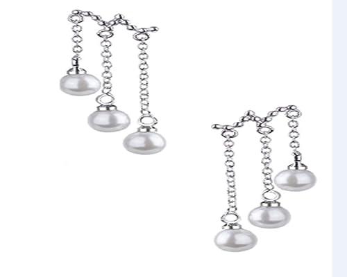 dac2b14abc46 Pendientes de tres perlas Pendientes largos de borla Pendientes de ...