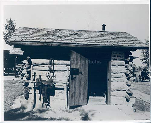 Pony Express Envelope - 1966 Photo Pumpkin Seed Creek Relay Station Pony Express Buildings Harold Warp