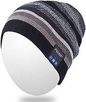 Bluetooth Beanie, Qshell musica cappello cuffia auricolare Bluetooth stereo speaker mic mani libere, Best Birthday da uomo donna invernale Outdoor sci snowboard trekking
