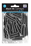 25 x Standard Sized Universal Black Fountain Pen Ink Cartridge Refills