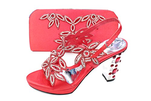 Sandales Pour Rouge Wear Femme amp; Walk UK a4txn6PS