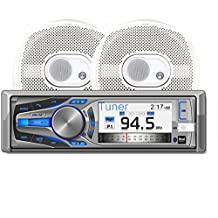 Dual AMCP615BT Marine Stereo CD Receiver with 3-Inch Color LCD and Bluetooth, Includes Two Pairs of 6.5-Inch Speakers