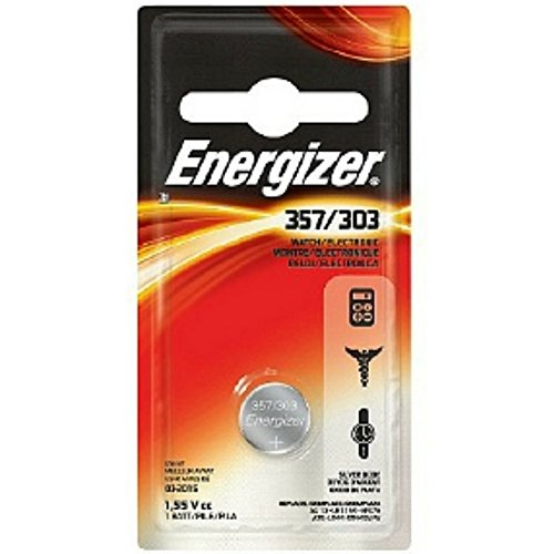 Energizer Watch Battery 1.55 Volt 357/303 1 Each (Pack of 10) - 303 Energizer Watch Batteries