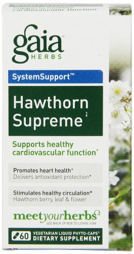Gaia Herbs Hawthorn Supreme Liquid Phyto-Capsules, 60 Count