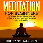 Meditation: Meditation for Beginners: How to Meditate to Relieve Stress, Anxiety & Depression and Live Peacefully | Brittany Hallison