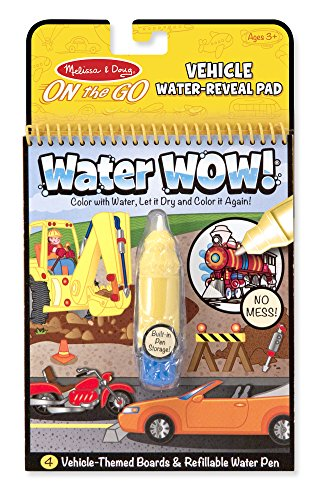 Melissa & Doug On the Go Water Wow! Water Reveal Pad: Vehicles - 4 Boards and Water Pen ()