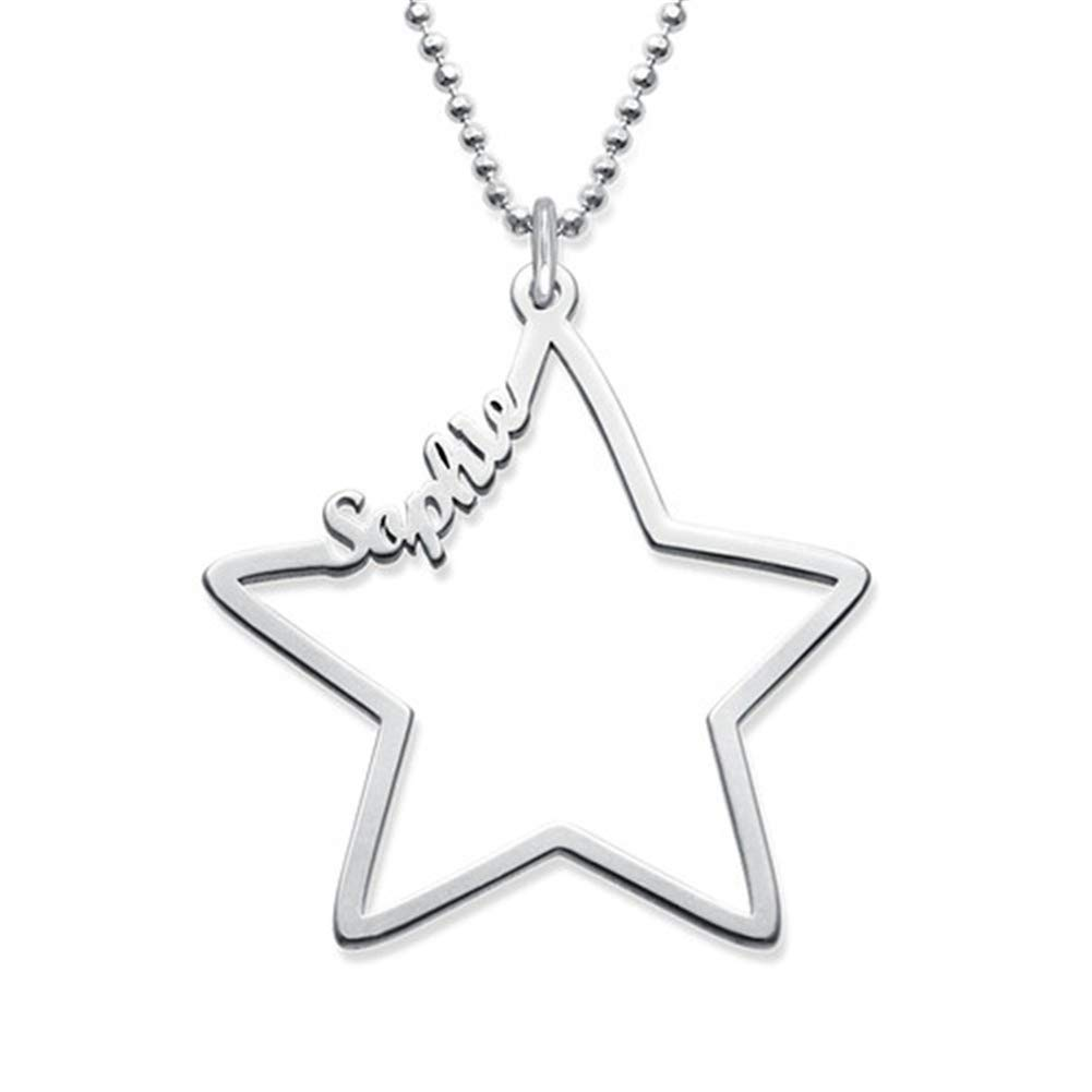 Friendship for Eternity Star Necklace SADNESS N Sterling Silver Name Custom Necklace