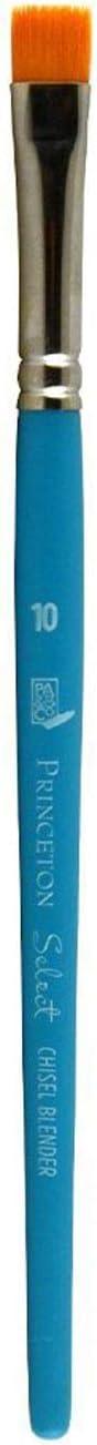 Princeton Select Artiste Chisel Blender Paintbrush, Synthetic, Size 10, Multicolor