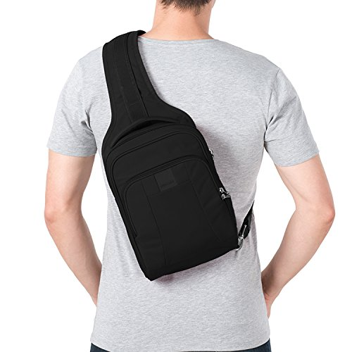 Pacsafe Metrosafe LS150 Anti-Theft Sling Backpack, Black by Pacsafe (Image #4)