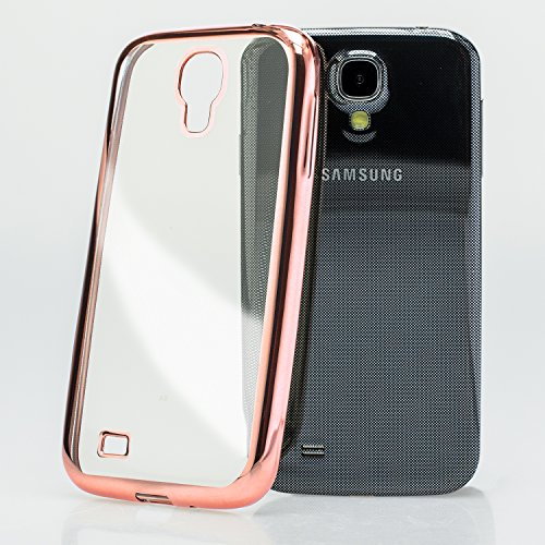 Mobilefox farbiger Rand Schutzhülle TPU Case Samsung Galaxy S4 rosa