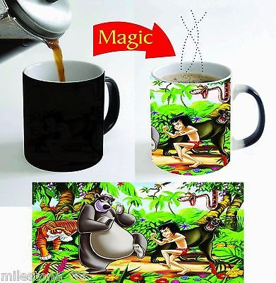 Mug Jungle (Jungle Book Kids Cartoon Movie Magic Color Change Coffee Mug 11 Oz. for Gifts)