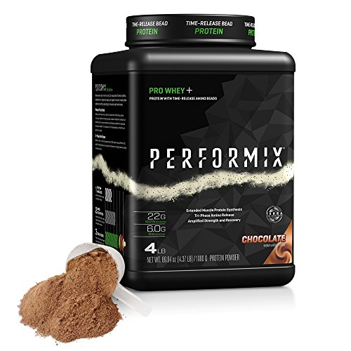 PERFORMIX PRO WHEY+ Protein Powder with TimeRelease Amino Beads, Muscle Protein Synthesis, Strength and Recovery, 4lb, Chocolate