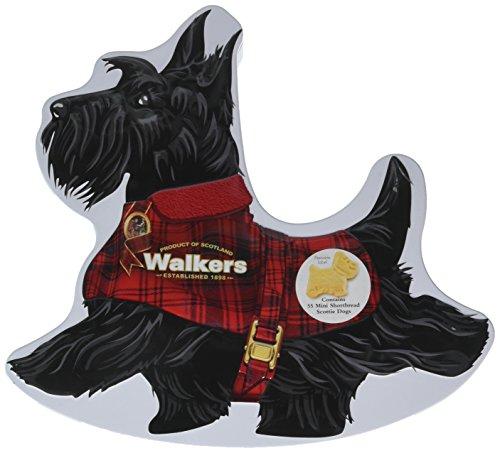 Walkers Shortbread Scottie Dog Rocking Tin, 7 Ounce